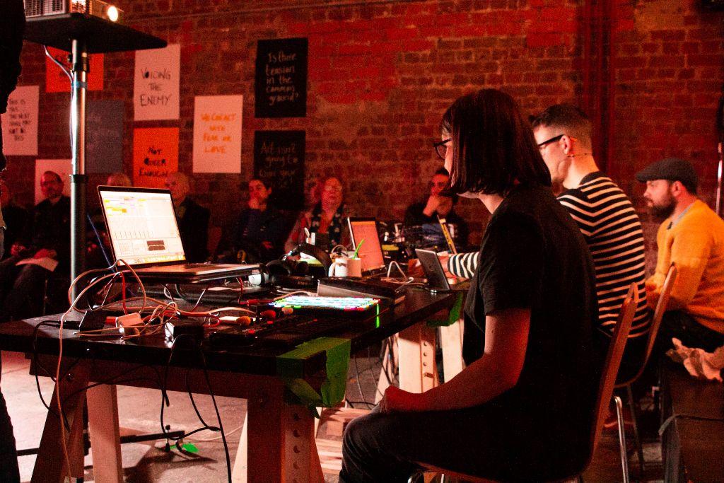 Gemma Nash & Gareth Cutter performing at Metal Liverpool