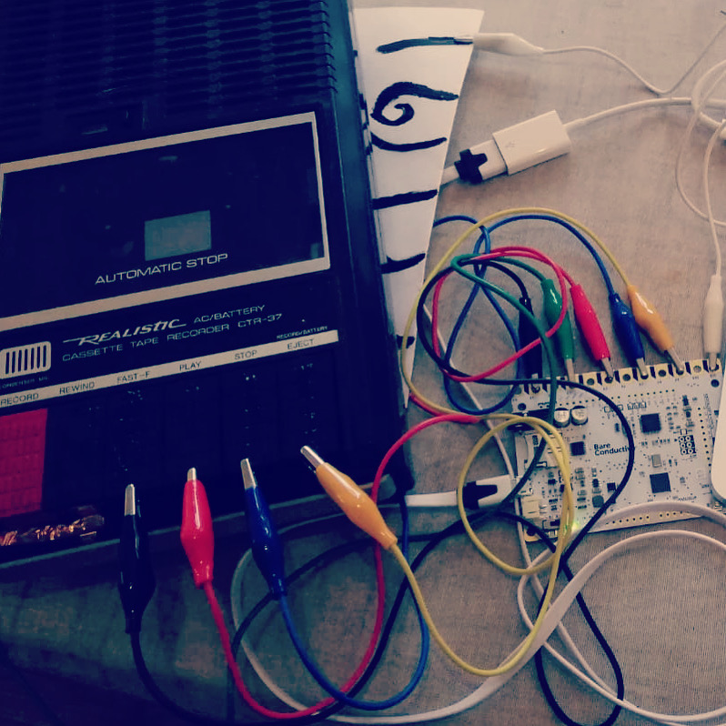 Hacked Cassette Player